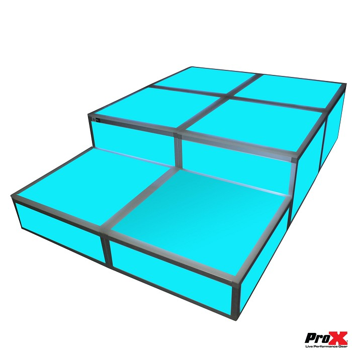 ProX XSA-2X2-8 and XSA-4x4x16 Acrylic Platform Riser Package 1