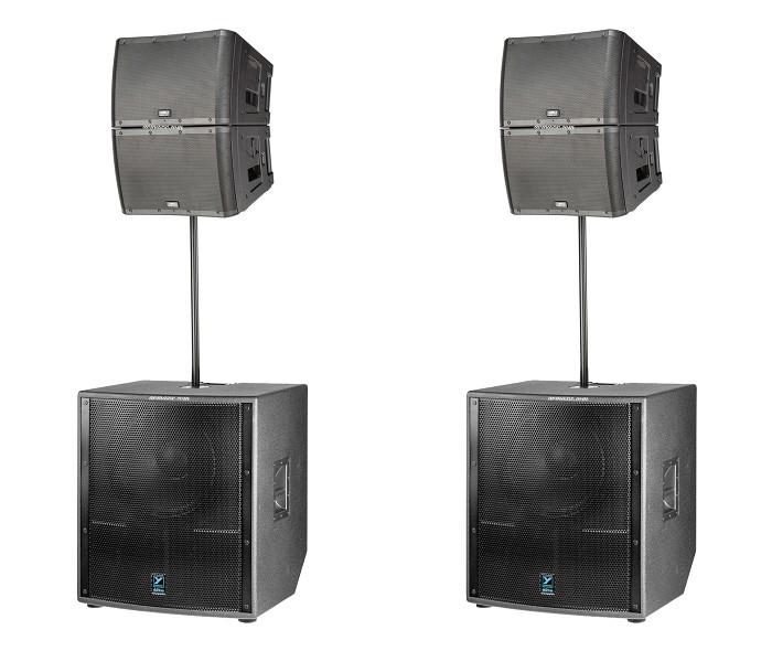yorkville ls801pb and qsc kla 12 pack line array loudspeaker system neodymium based 18 inch. Black Bedroom Furniture Sets. Home Design Ideas